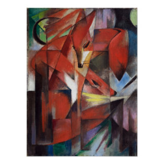 Franz Marc - The Foxes, 1913 Poster