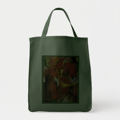Franz Marc -The Foxes - Expressionist Art Bag