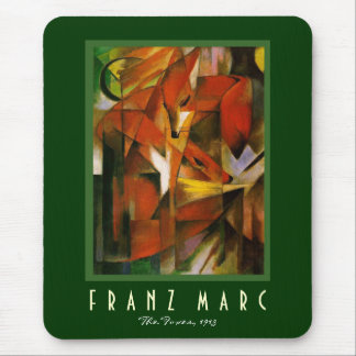 Franz Marc - The Foxes - Expressionist Art Mouse Pad