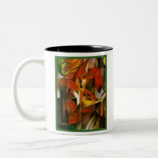 Franz Marc - The Foxes - Expressionist Art Two-Tone Coffee Mug