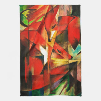 Franz Marc The Foxes Red Fox German Expressionism Kitchen Towel