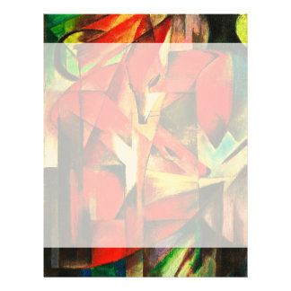 Franz Marc The Foxes Red Fox German Expressionism Letterhead