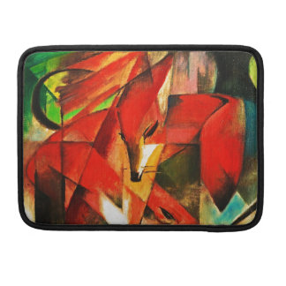 Franz Marc The Foxes Red Fox German Expressionism Sleeve For MacBook Pro