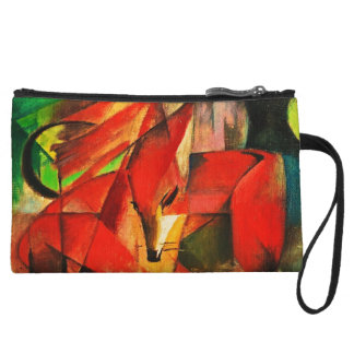 Franz Marc The Foxes Red Fox Modern Art Painting Wristlet Purses