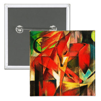 Franz Marc The Foxes Red Fox Modern Art Painting Pin