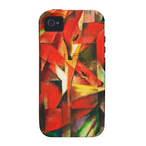Franz Marc The Foxes Red Fox Modern Art Painting iPhone 4 Cases
