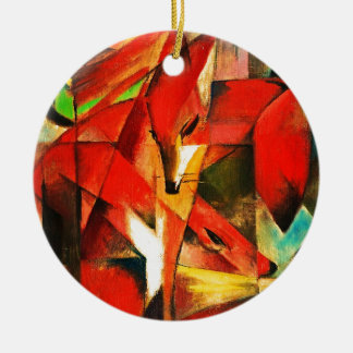 Franz Marc The Foxes Red Fox Modern Art Painting Ceramic Ornament