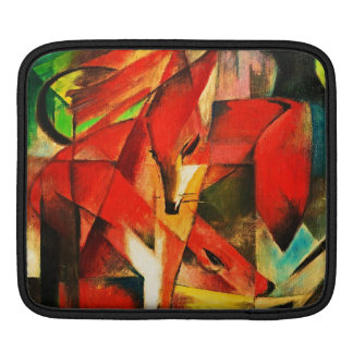 Franz Marc The Foxes Red Fox Modern Art Painting iPad Sleeves