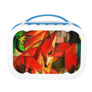 Franz Marc The Foxes Red Fox Modern Art Painting Lunch Box