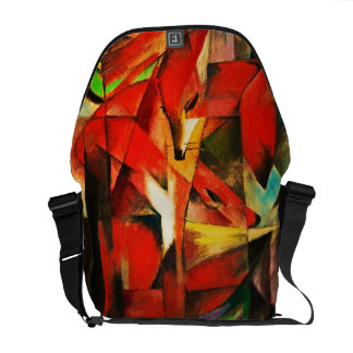Franz Marc The Foxes Red Fox Modern Art Painting Courier Bags