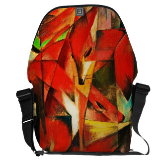 Franz Marc The Foxes Red Fox Modern Art Painting Messenger Bag