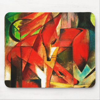Franz Marc The Foxes Red Fox Modern Art Painting Mouse Pad