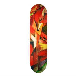 Franz Marc The Foxes Red Fox Modern Art Painting Skateboard Deck