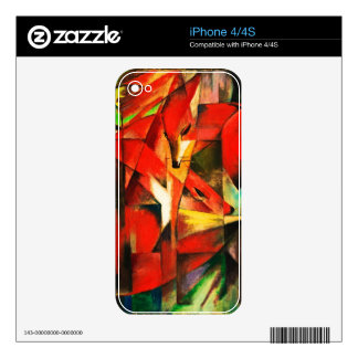Franz Marc The Foxes Red Fox Modern Art Painting Skins For iPhone 4S