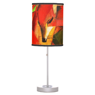 Franz Marc The Foxes Red Fox Modern Art Painting Table Lamp
