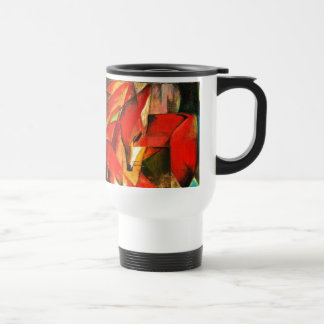Franz Marc The Foxes Red Fox Modern Art Painting Travel Mug