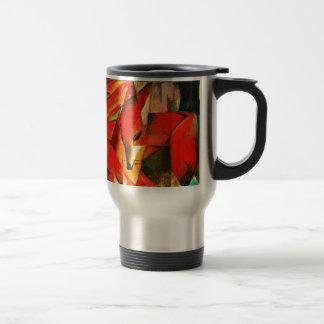Franz Marc The Foxes Red Fox Modern Art Painting Travel Mug