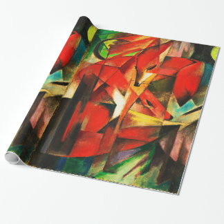 Franz Marc The Foxes Red Fox Vintage Art Painting Wrapping Paper