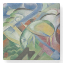 Franz Marc, the sheep/ フランツ·マルク,  ヒツジ Stone Coaster