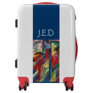 Franz Marc The Stables Colorful Luggage