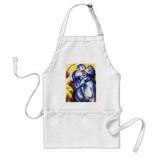 Franz Marc The Tower of Blue Horses Adult Apron
