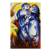 Franz Marc The Tower of Blue Horses Poster