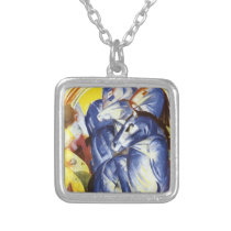 Franz Marc- The Tower of Blue Horses Silver Plated Necklace