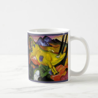 Franz Marc - The Yellow Cow - Expressionist Art Classic White Coffee Mug