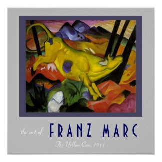 Franz Marc - The Yellow Cow - Expressionist Art Poster