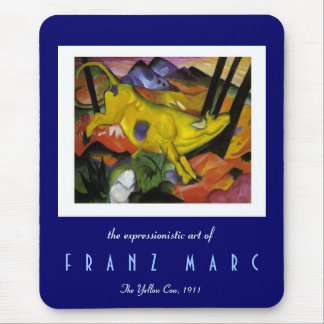 Franz Marc - The Yellow Cow -Expressionist Mouse Pad