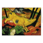 Franz Marc- The Yellow Cow Greeting Card