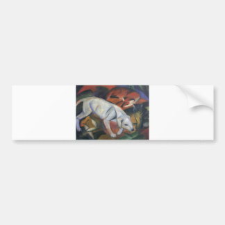 Franz Marc - Three Animals 1912 dog fox cat oil Bumper Sticker