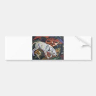 Franz Marc - Three Animals 1912 dog fox cat oil Bumper Sticker