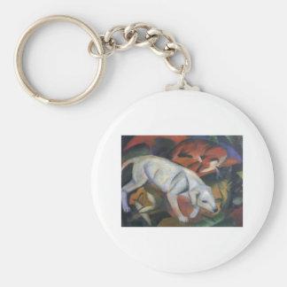 Franz Marc - Three Animals 1912 dog fox cat oil Keychain