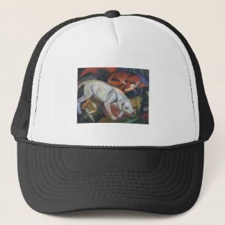 Franz Marc - Three Animals 1912 dog fox cat oil Trucker Hat