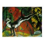 Franz Marc- Three Cats Postcard