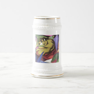 Franz Marc - Tiger 1912 Cat Jungle Canvas Yellow Beer Stein