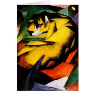Franz Marc - Tiger Greeting Card