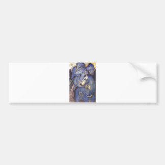 Franz Marc - Tower of Blue Horses 1913 Equestrian Bumper Sticker