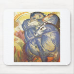 Franz Marc - Tower of Blue Horses 1913 Equestrian Mouse Pad