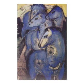 Franz Marc - Tower of Blue Horses 1913 Equestrian Posters
