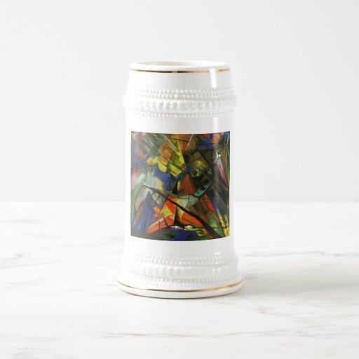 Franz Marc - Tyrol Tirol 1914 Oil Canvas Light Orb Beer Stein