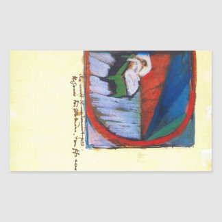 Franz Marc - Vignette D Rectangle Stickers