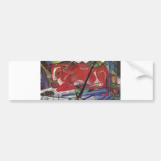 Franz Marc World Cow 1913 Canvas Cows Double Image Bumper Sticker