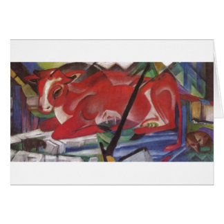 Franz Marc World Cow 1913 Canvas Cows Double Image Card