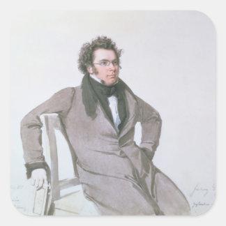 Franz Schubert, 1825 Pegatina Cuadradas