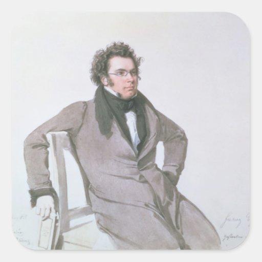 Franz Schubert , 1825 Square Sticker