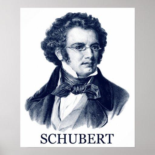 Franz Schubert, azul Impresiones