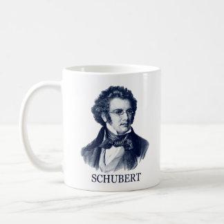 Franz Schubert azul Tazas