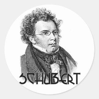 Franz Schubert Classic Round Sticker